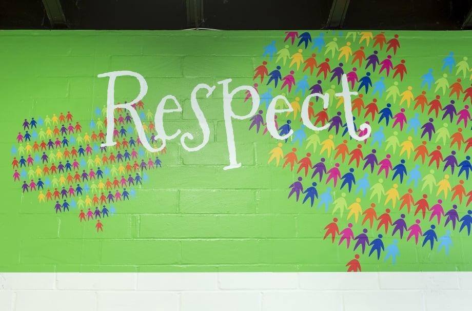 London schools core values bespoke hall wall art