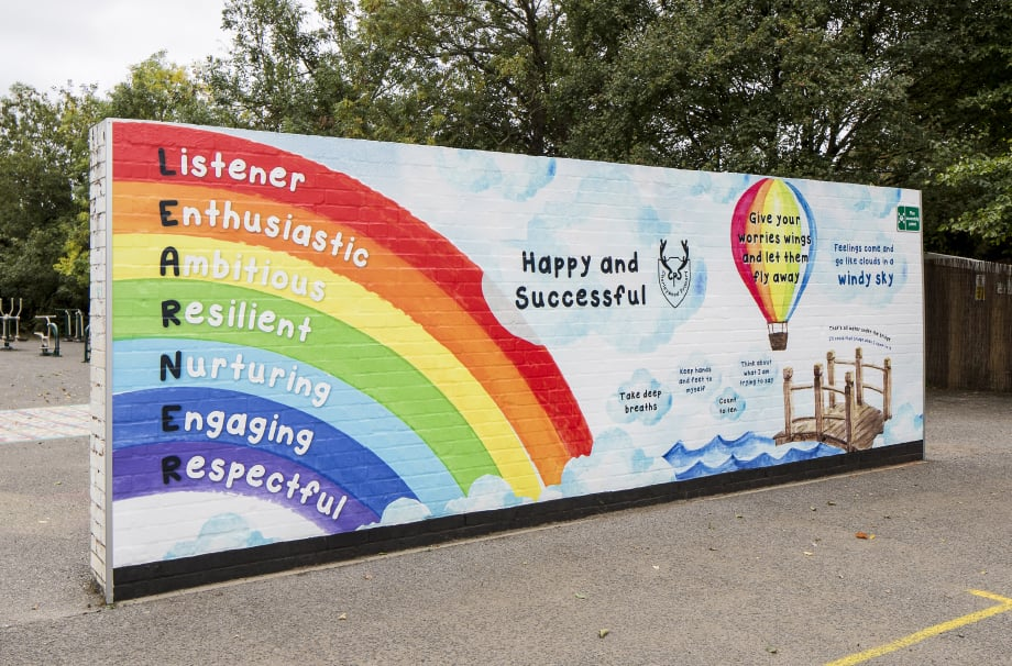 Chorleywood Primary - playground feature wall