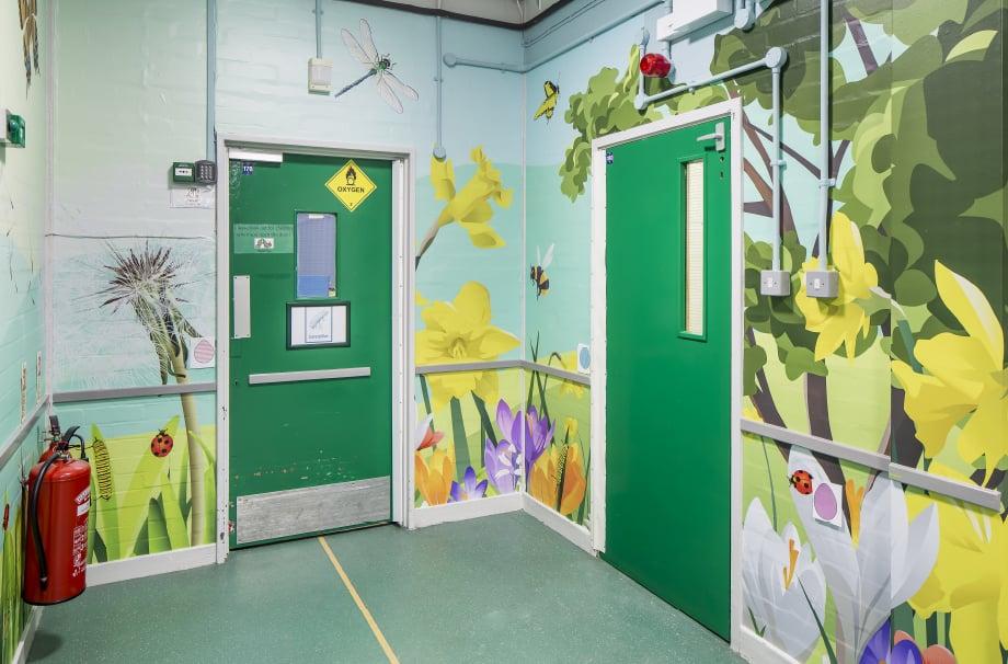 Primary schools Minibeasts corridor wall art