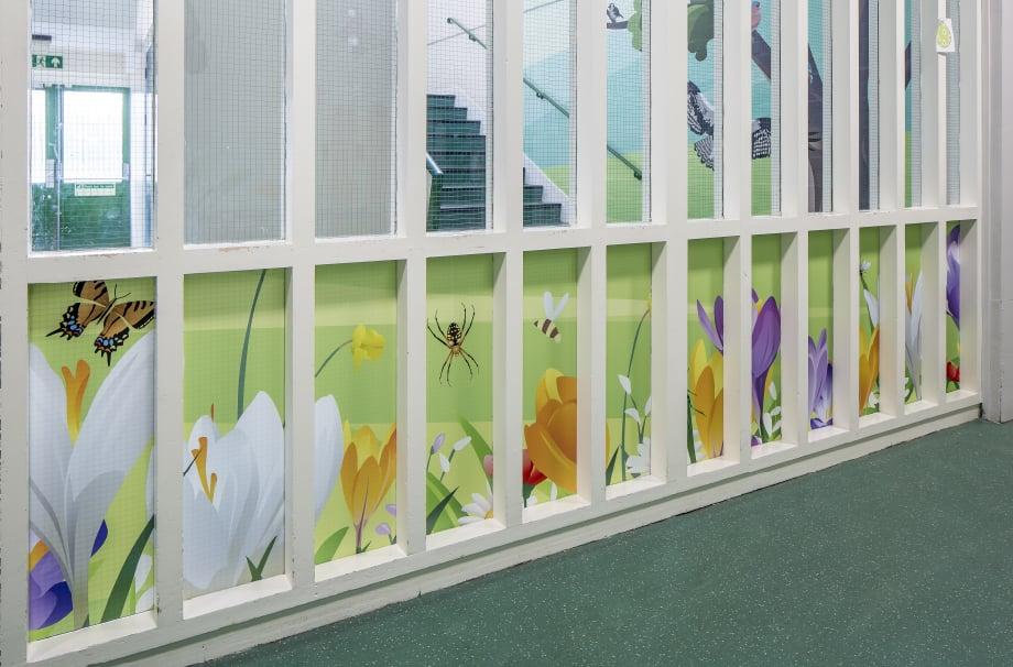 Five Acre Wood School bespoke themed corridor wall art