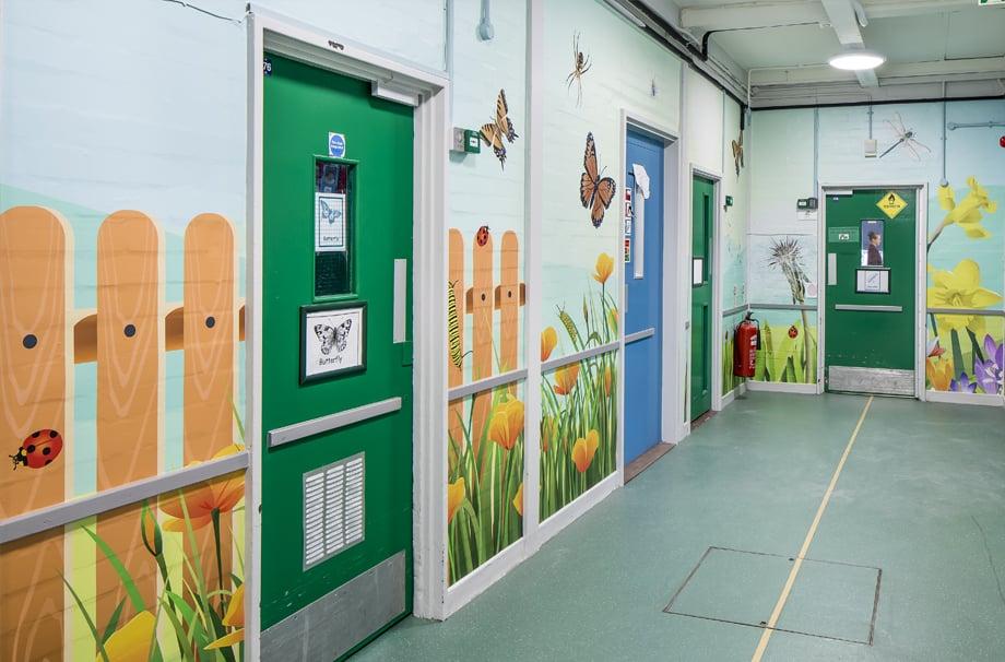 Five Acre Wood School - Mini beasts corridor