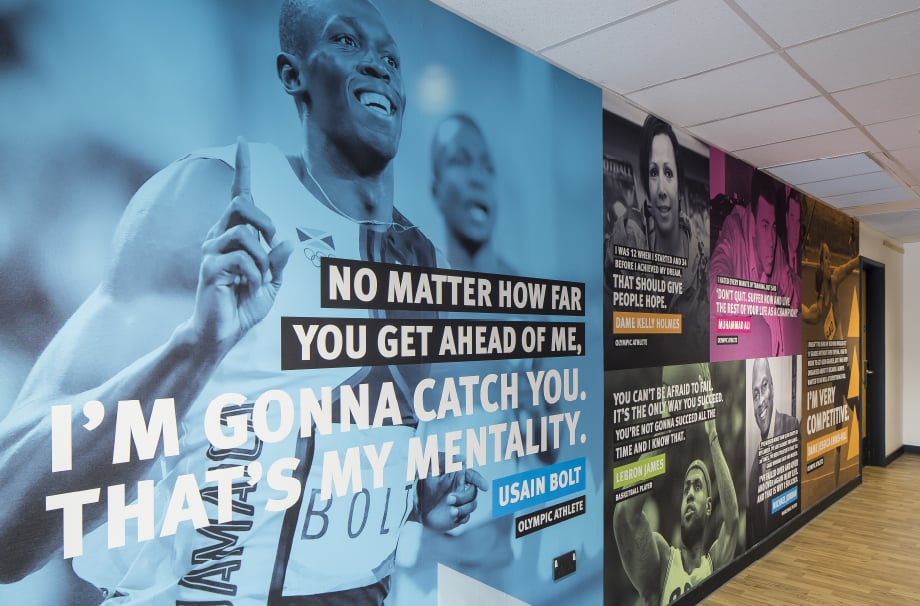 Stanmore Sports College large format motivating wall art