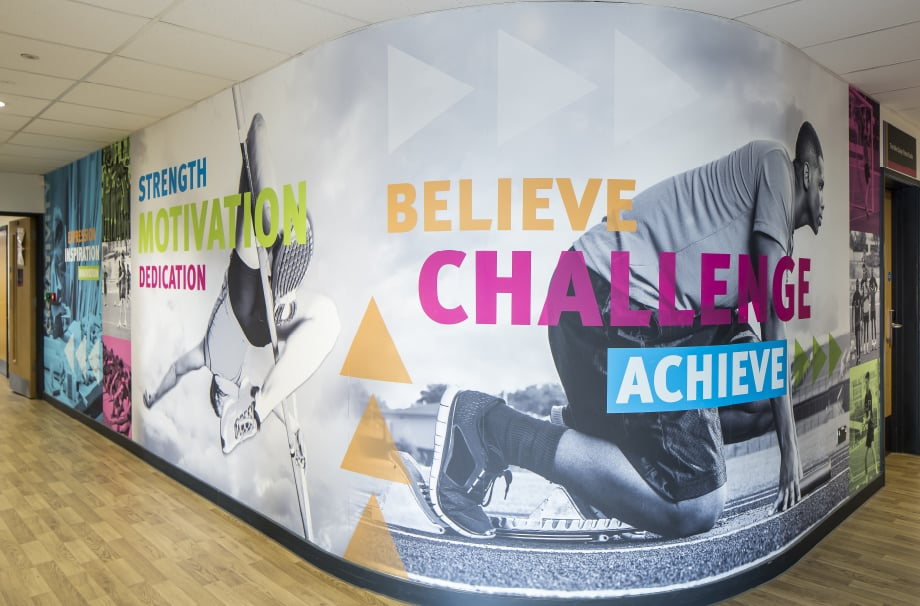 Stanmore College inspiring large format bespoke Sports Wall Art