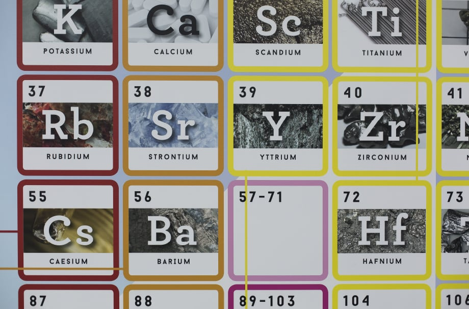 Woodford High for Girls large format chemistry feature wall art