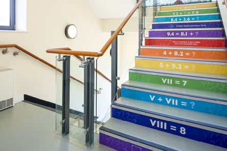 Churchfields Junior maths stairwell design