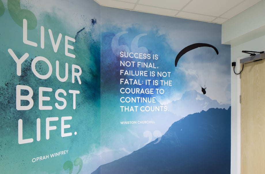 St Edmund's inspirational feature corridor wall art