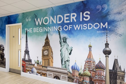 St Edmunds inspiration corridor feature wall art