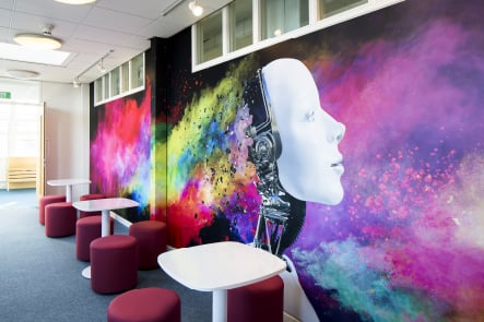 Croydon High School ICT feature wall art
