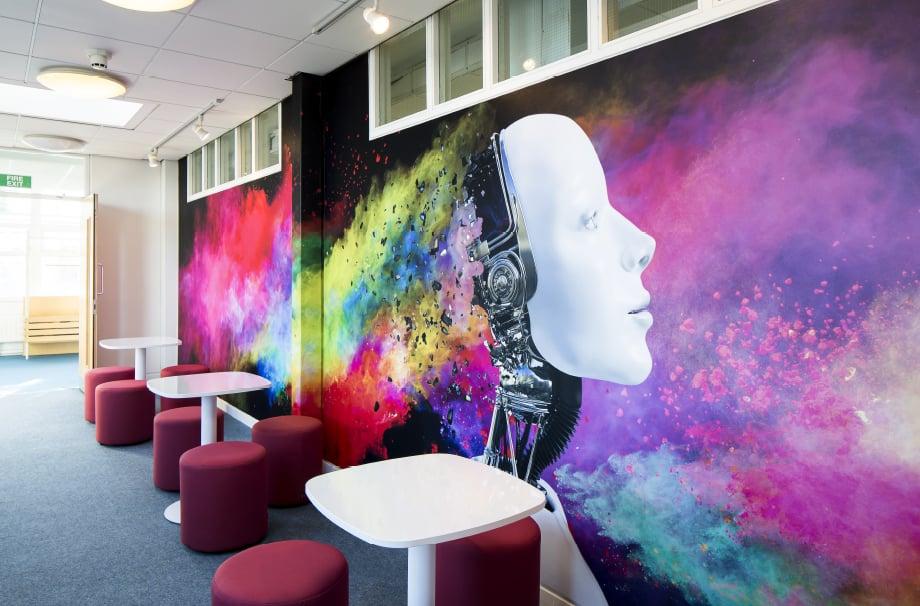 Croydon high School ICT feature wall art