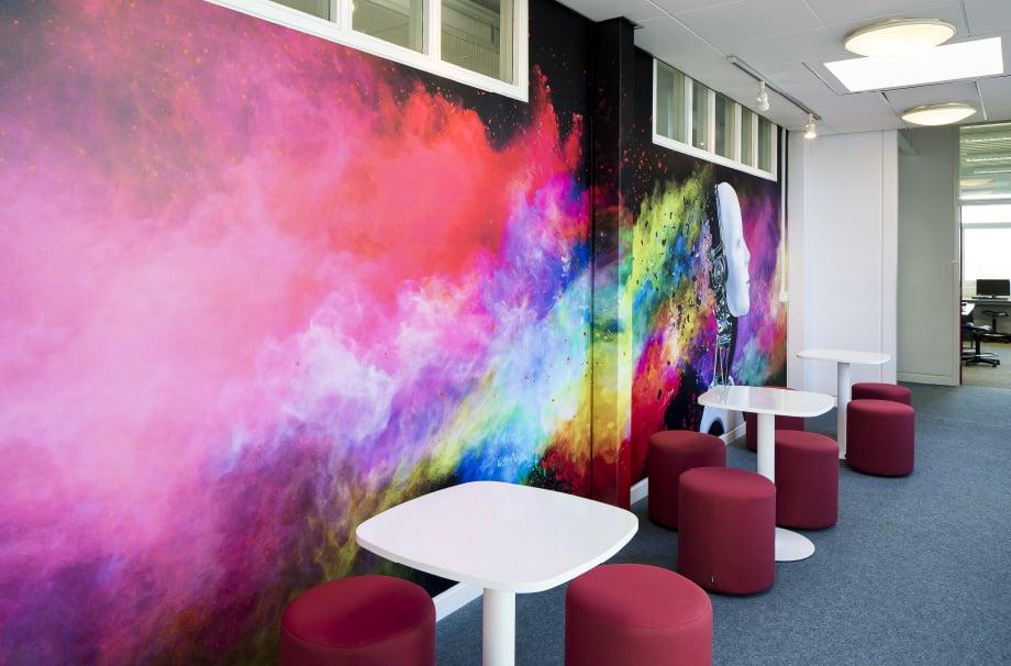 Croydon High School ICT zone bespoke feature wall art