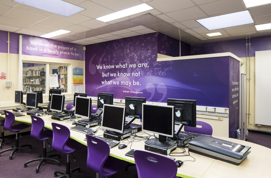 Nower Hill High School motivational quotes Library Wall Art