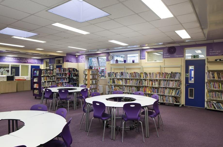 School Library custom designed library Wall Art