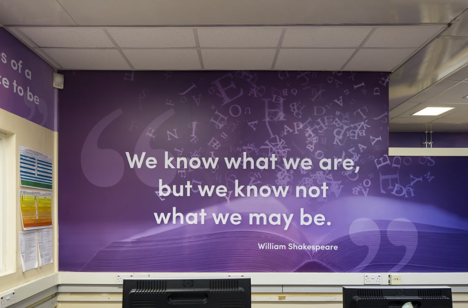 Middlesex High School subject themed library Wall Art motivational quote
