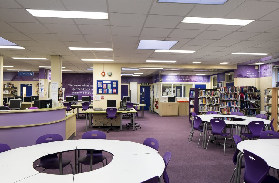Nower Hill high School bespoke literature quote feature wall art