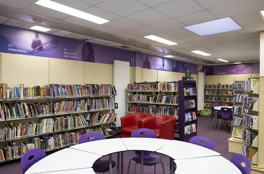 Nower Hill High School inspirationational bespoke library wall art