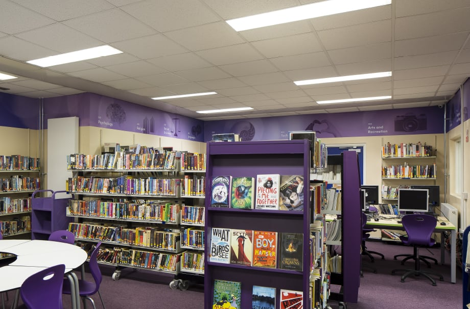 School library bespoke design and graphics for Wall Art