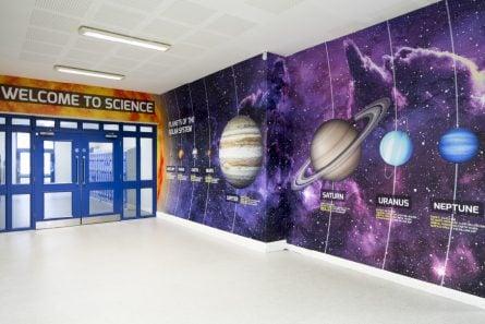 Richmond park Academy Science Entrance Wall Art
