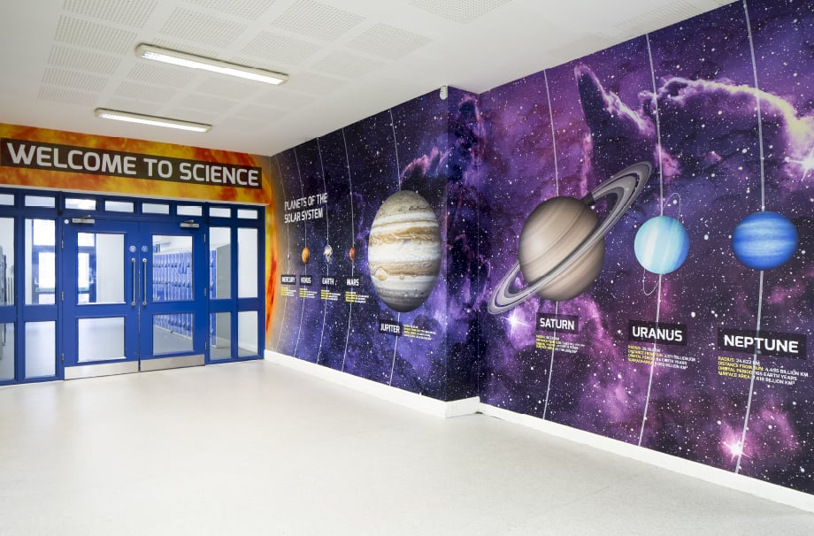 Richmond park Academy Science Entrance Wall Art