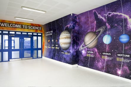Richmond Park Academy science entrance feature wall art