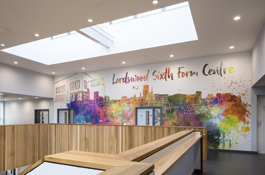 Lordswood Sixth Form Wall Art - atrium