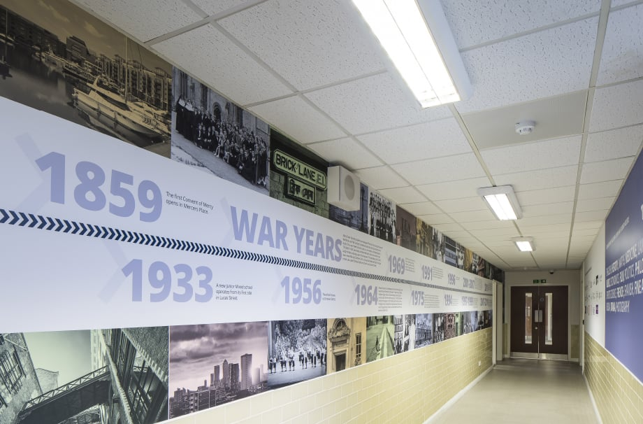Bishop Challoner Historical timeline school wall art