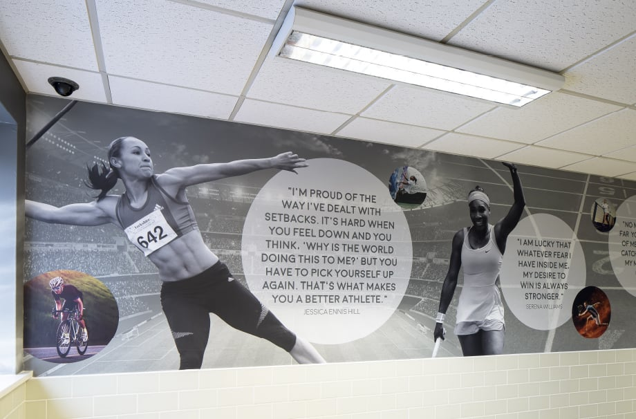 Bishop Challoner sports champion quotes wall art