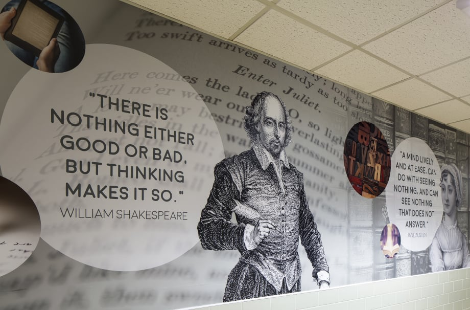 Bishop Challoner William Shakespeare quote corridor wall art