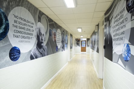 Bishop challoner subject corridor feature wall art