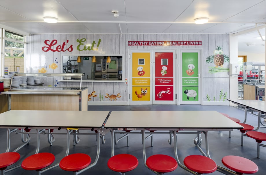 Reigate St Marys healthy eating canteen Wall Art