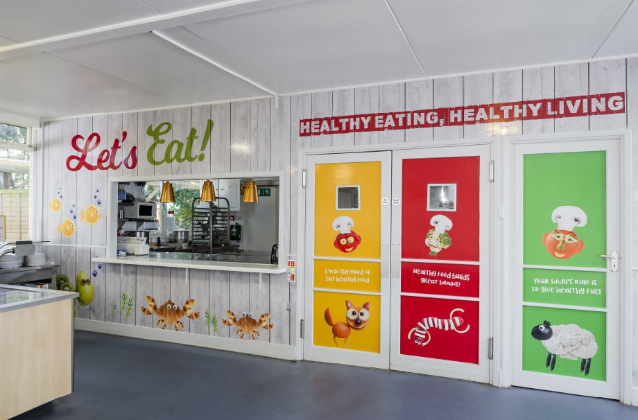 Healthy eating healthy living bespoke canteen Wall Art