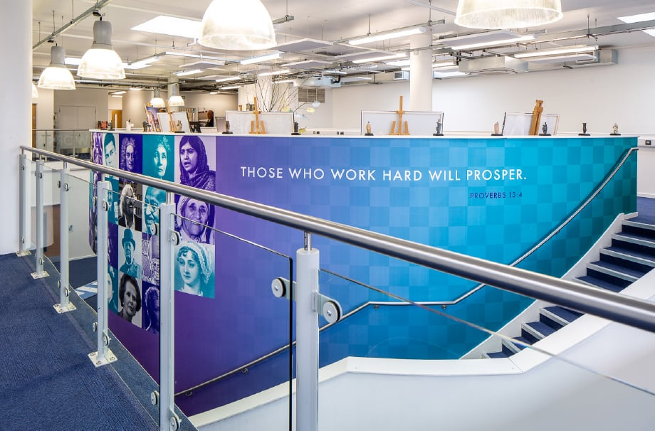 Sarum Academy Values themed large format feature wall art