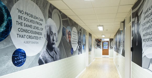 Bishop Challoner - subject corridor
