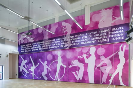 Churchfields Junior Performing Arts space wall art