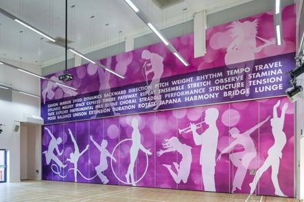 Churchfields Junior Performing Arts space wall art