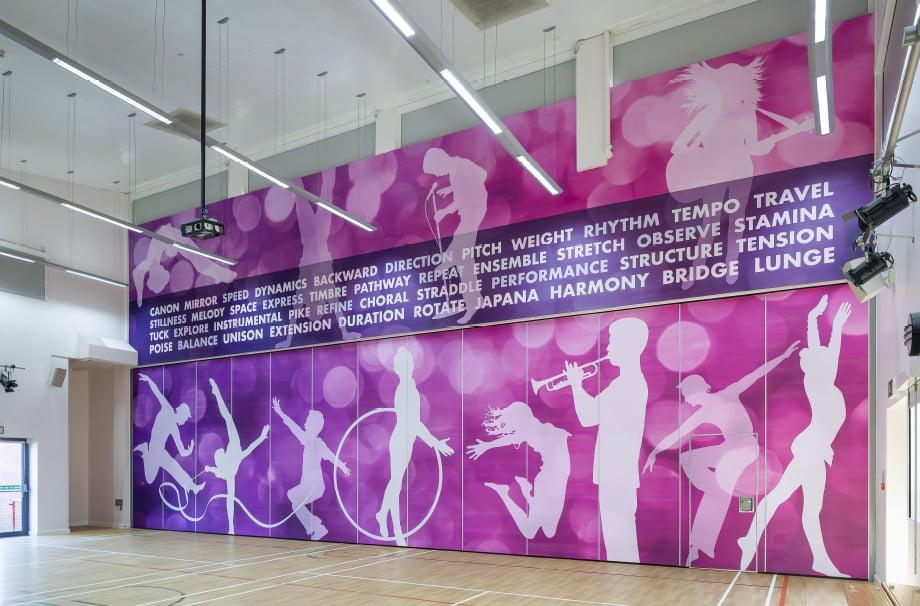 Churchfield Junior School sport themed wall art