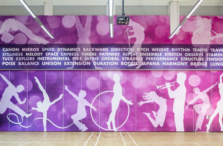 Churchfield Junior School bespoke large format sport wall art