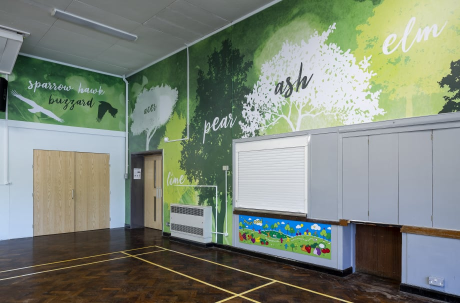 Crofton Anne Dale School Hall geography large wrap wall art