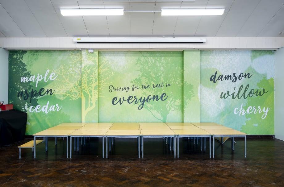 Crofton Anne Dale motivational school hall bespoke wall art