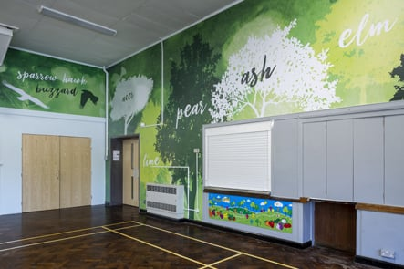 Crofton Anne Dale nature inspired school hall wall art