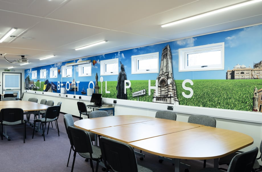 St Botolphs School bespoke local landmark classroom wall art