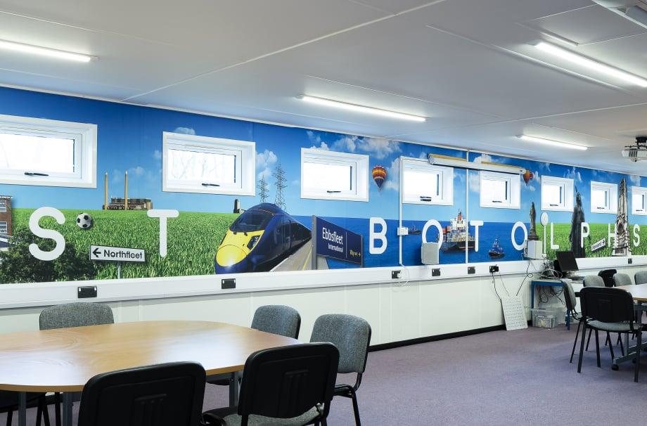 St Botolphs School Bespoke Classroom Wall Art