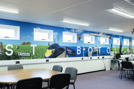 St Botolph's Primary School local feature classroom wall art