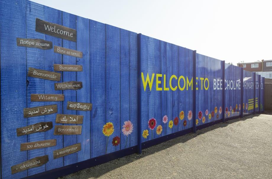 Beecholme Primary School Fence Mural
