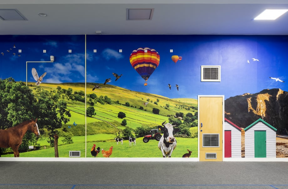 Coventry Primary School bespoke graphic design installation wall art