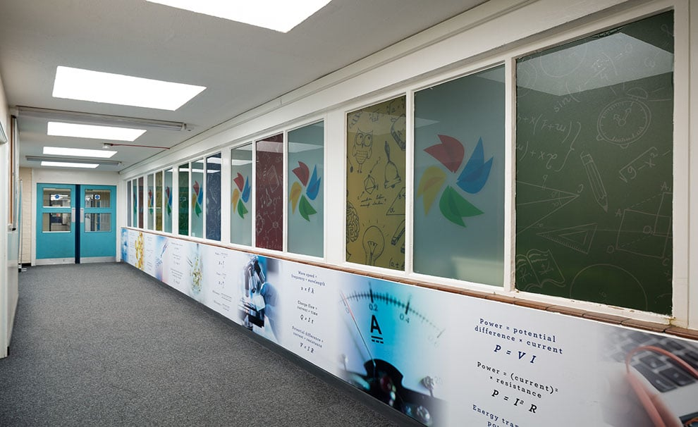 The Forest School Science corridor and window Wall Art
