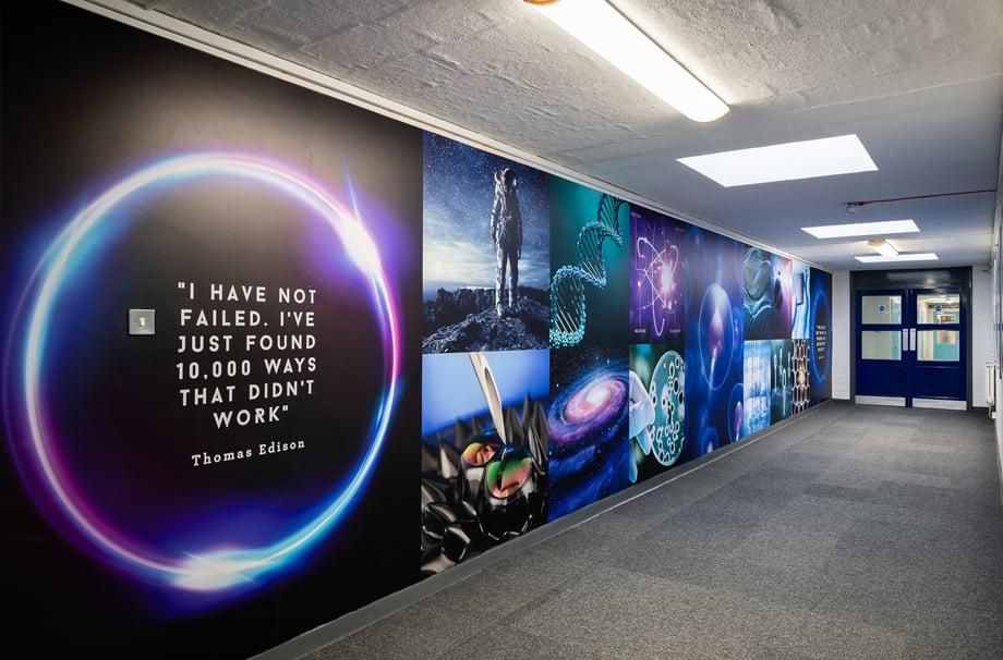 The Forest School Science corridor Wall Art