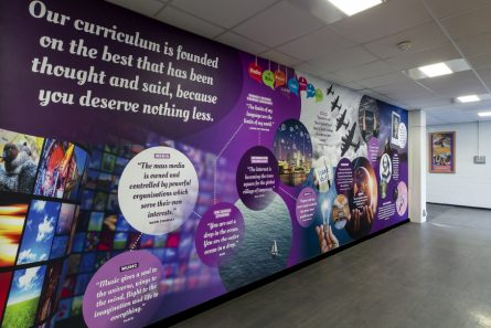 Curriculum wall design