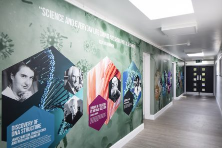 Bloxham school science corridor