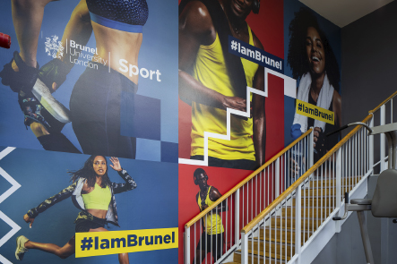 Brunel University gym stairwell