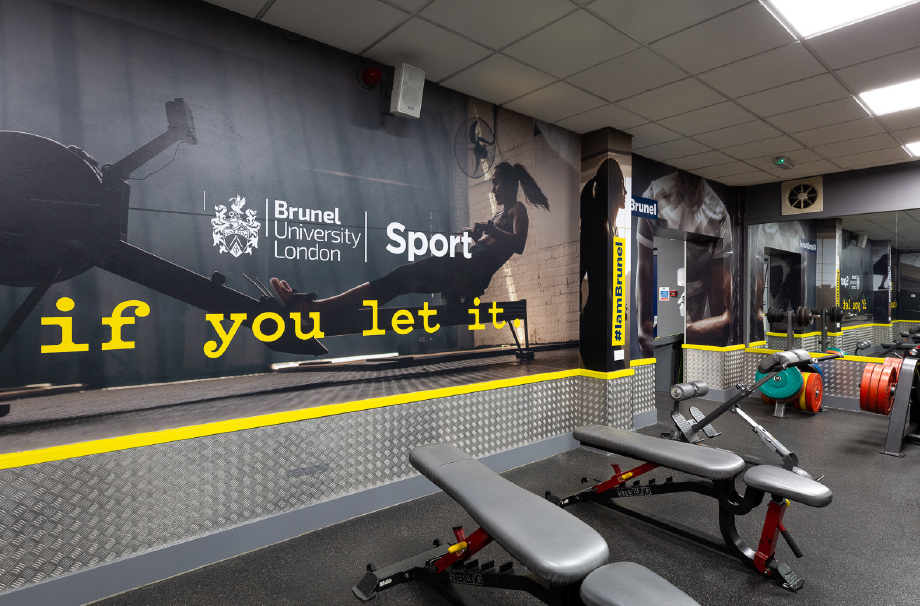 Brunel University free weights room